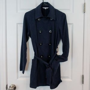 CAbi Double Breasted Belted Sweater Navy Small
